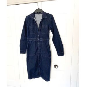 Ann Taylor Button Down Denim Dress